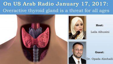 """صورة راديو """"صوت العرب من أميركا"""" يستعرض مرض فرط نشاط الغدة الدرقية وأعراضه وعلاجه"""