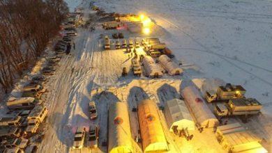 صورة كثافة الثلوج تعيق التحقيق في تحطم طائرة الركاب الروسية قرب موسكو