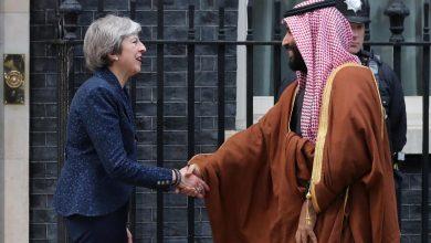 """صورة ولي عهد السعودية يختتم زيارته لبريطانيا ويتفق على شراء 48 طائرة """"يوروفايتر تايفون"""""""