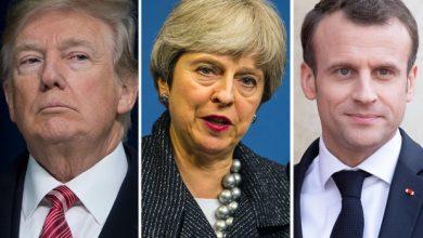 صورة تنسيق كامل بين بريطانيا وأمريكا وفرنسا ردا على الهجوم الكيميائي بسوريا