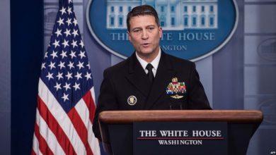 صورة طبيب البيت الأبيض يعتذر عن تولي وزارة المحاربين القدامى