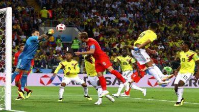 صورة إنجلترا تتأهل لدور الثمانية بعد مباراة عصيبة مع كولومبيا