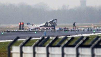 صورة سقوط طائرة ركاب في ولاية فلوريدا بالقرب من قاعدة عسكرية أميركية