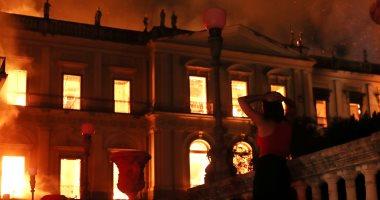 صورة حريق ضخم في متحف البرازيل الوطني .. والخسائر التاريخية فادحة