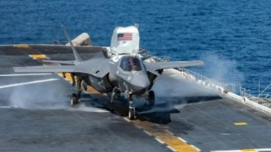 صورة تحطم طائرة شبح إف-35 ..أغلى طائرة عسكرية في العالم