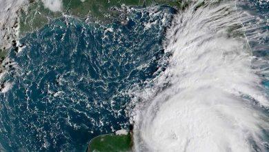 """صورة تحذير لمواطني ولاية فلوريدا الأميركية من الإعصار """"مايكل"""""""