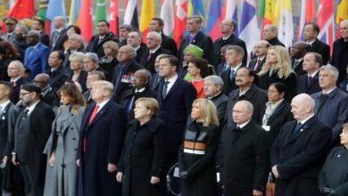 صورة قادة وزعماء العالم يحيون الذكرى المئوية للحرب العالمية الأولى في باريس
