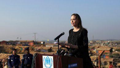 """صورة نجمة هوليوود """"أنجلينا جولي """" تزور مخيمات الروهينغا في بنجلاديش"""