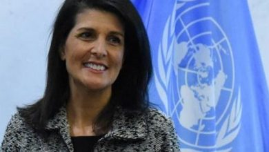 صورة سفيرة أميركا السابقة في الأمم المتحدة نيكي هيلي في طريقها لمجلس إدارة بوينج