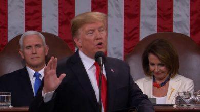 صورة ترامب في خطاب حالة الاتحاد .. لنجعل أميركا أولا في قلوبنا