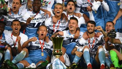 صورة لاتسيو يتوج بكأس إيطاليا