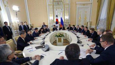 صورة بدء محادثات اتفاقية التجارة الحرة بين كوريا الجنوبية وروسيا