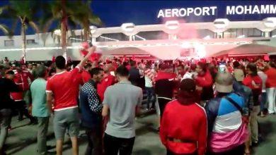 صورة استقبال الأبطال للاعبي للوداد في الدار البيضاء