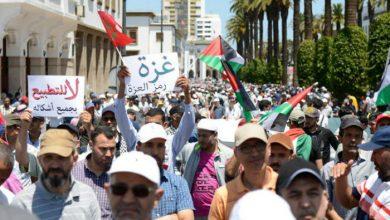 المغرب : الآلاف يتظاهرون ضد مؤتمر البحرين ويرفضون مشاركة بلادهم فيه