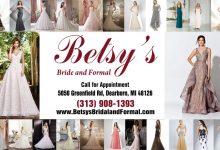 أزياء بيتسي لبدلات العرائس والملابس الرسمية للسيدات