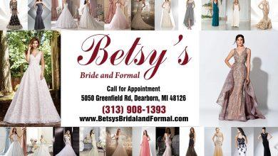 صورة أزياء بيتسي لبدلات العرائس والملابس الرسمية للسيدات
