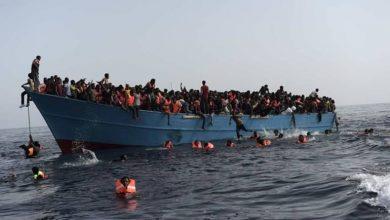 """صورة إنقاذ 25 مهاجرًا قبالة سواحل """"كاليه"""" شمال فرنسا"""