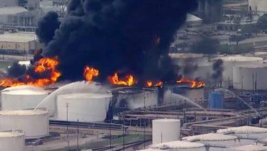 صورة انفجار وحريق في مصنع كيماويات بتكساس