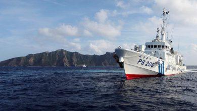 صورة قارب صيد كوري شمالي يصطدم بسفينة دورية يابانية