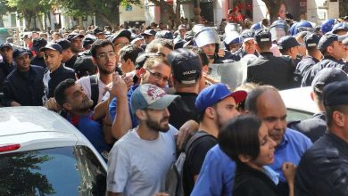 صورة منع مسيرات طلابية لأول مرة منذ بدء الحراك الجزائري