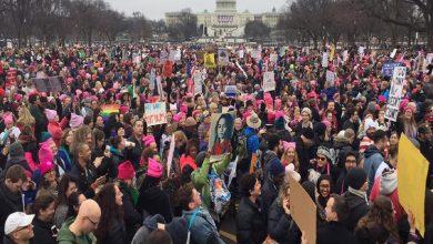 آلاف النساء في مسيرة بواشنطن ومدن أمريكية للدفاع عن حقوق المرأة