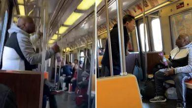 """صورة فيديو صادم.. أمريكي يتصرف بـ""""عنصرية""""خوفًا من كورونا"""