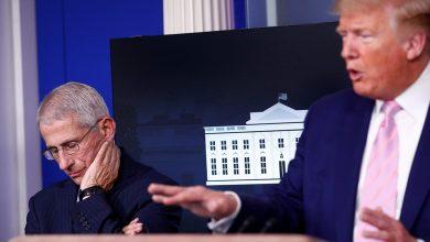 صورة بعد تحذير فاوتشي..ترامب يقول إن تصريحاته غير مقبولة!