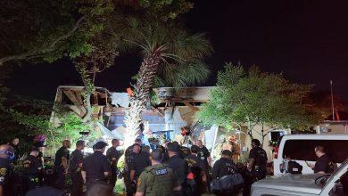 صورة سقوط مروحية للشرطة فوق مجمع سكني في تكساس