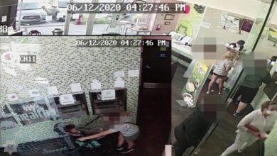 صورة شرطة كاليفورنيا تبحث عن سيدة سعلت عمدًا في وجه طفل رضيع