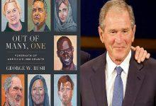 """صورة """"جورج بوش الابن"""" يشيد بالمهاجرين في كتاب جديد"""