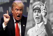 صورة بايدن يشبّه ترامب بوزير الدعاية النازية والأخير يكشف عن خطته البلاتينية