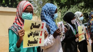 صورة يا شعبَ السودانِ الكريم لا تشوه سمعتَكَ ولا تلوثْ شرفَكَ