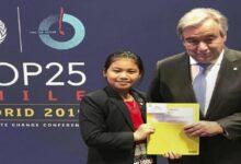 صورة أصغر ناشطة بيئية في العالم تشارك في مؤتمر حول التغير المناخي
