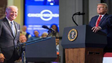 """صورة """"أقل صخبًا وأكثر انتقادًا"""".. ترامب وبايدن يتبادلان الاتهامات خلال مناظرتهما الأخيرة"""