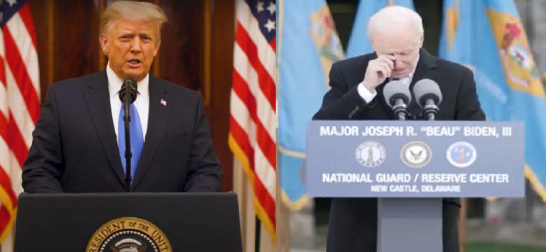 دموع بايدن ووداع ترامب.. ماذا قال الرئيس المنتخب والمنتهية ولايته؟