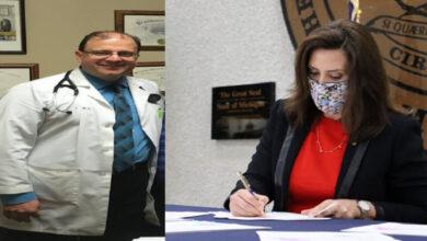 حاكمة ميشيجان تختار د. ظافر عبيد ضمن لجنة الحماية من وباء كورونا