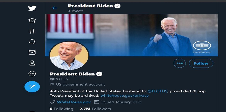 تويتر ينقل الحساب الرئاسي إلى بايدن بدون متابعين!