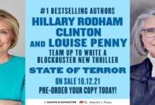 """""""حالة إرهاب"""".. أول رواية خيالية لهيلاري كلينتون"""